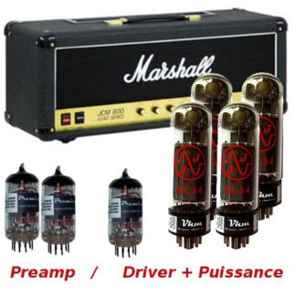 kit de retubage pour JCM 800 Marshall 100 watts