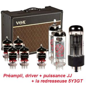 kit retubage vox AC15 original JJ